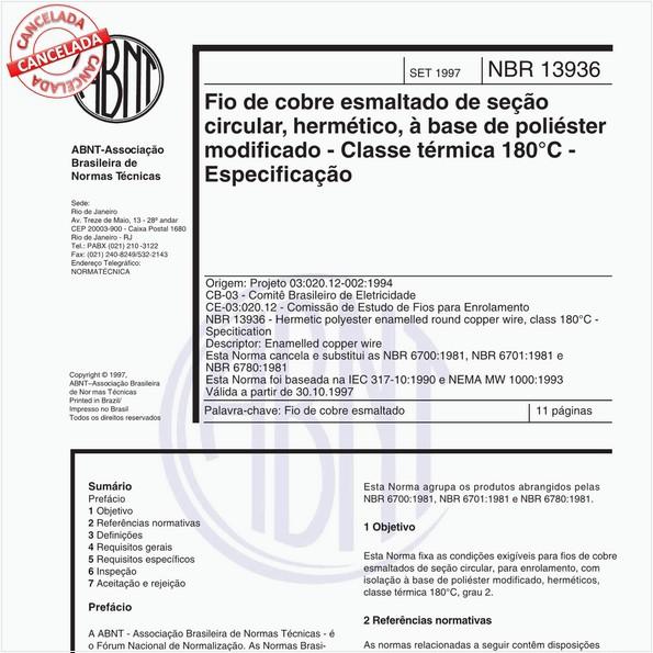 NBR13936 de 01/2007