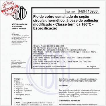 NBR13936 de 09/1997