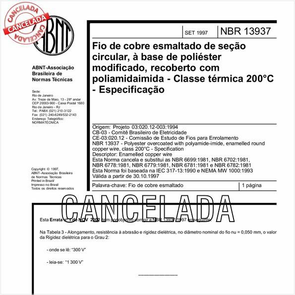 NBR13937 de 01/2007