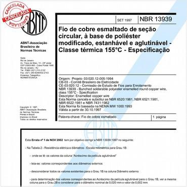 NBR13939 de 09/1997
