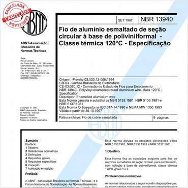 NBR13940 de 09/1997