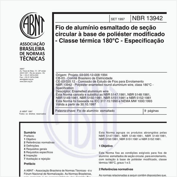 NBR13942 de 09/1997