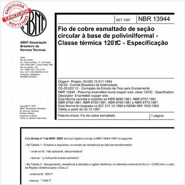 NBR13944 de 09/1997