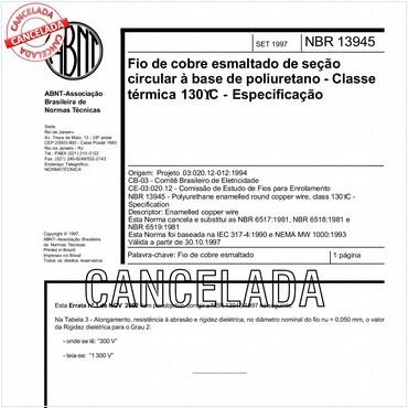 NBR13945 de 09/1997