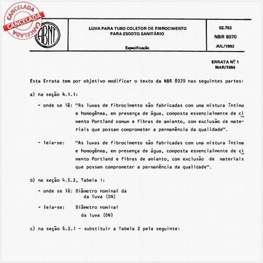 NBR8070 de 07/1983