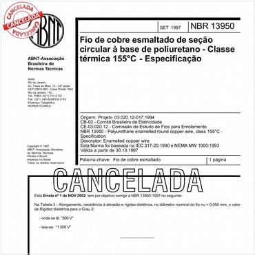 NBR13950 de 09/1997