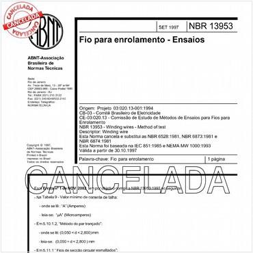 NBR13953 de 09/1997