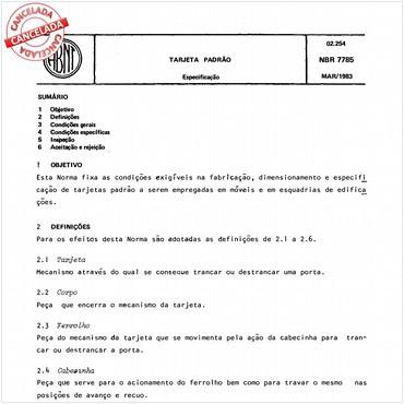 NBR7785 de 03/1983