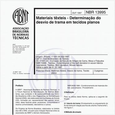 NBR13995 de 10/1997