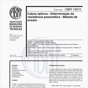 NBR13974 de 10/1997
