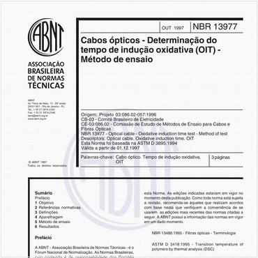 NBR13977 de 10/1997