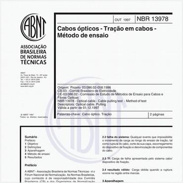 NBR13978 de 10/1997