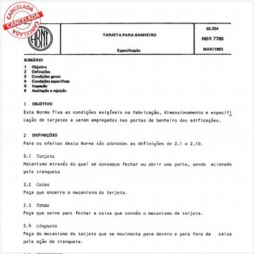 NBR7786 de 03/1983