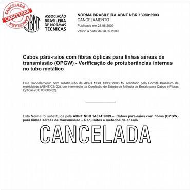 NBR13980 de 08/2003