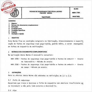 NBR7791 de 03/1983