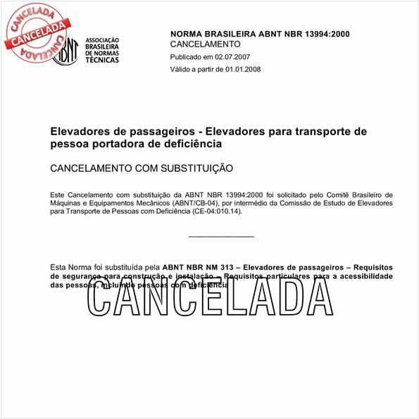 NBR13994 de 07/2007