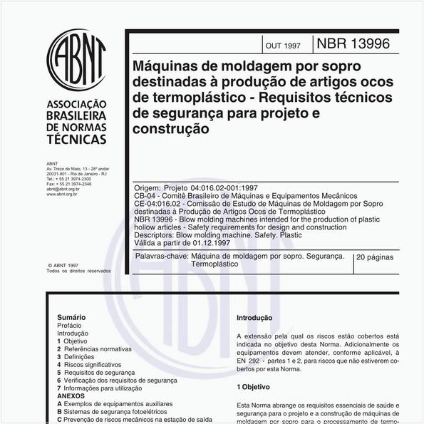 NBR13996 de 10/1997