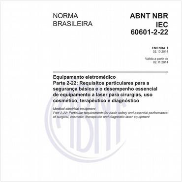 NBRIEC60601-2-22 de 10/2014