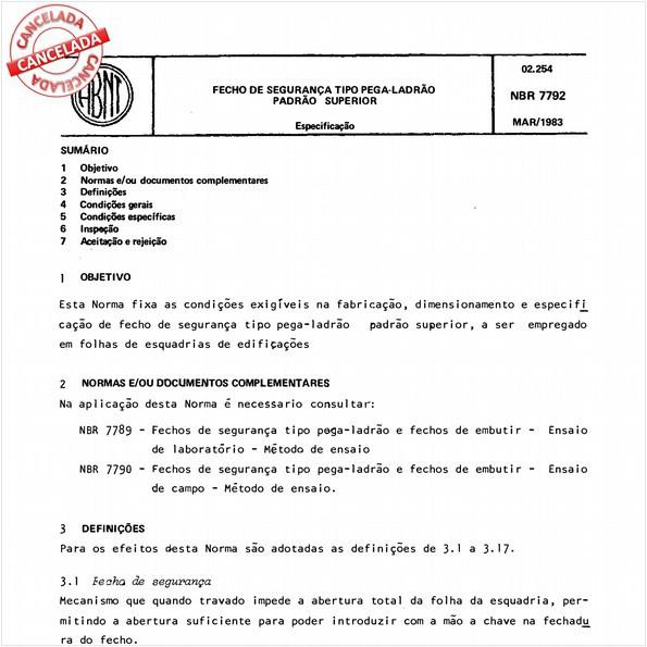 NBR7792 de 09/2012