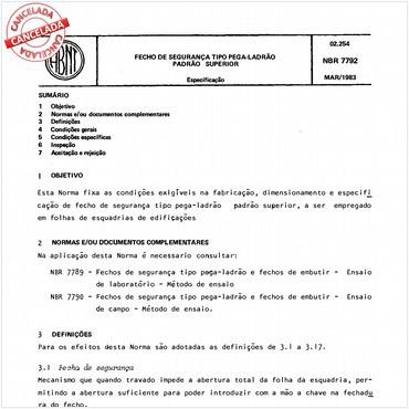 NBR7792 de 03/1983