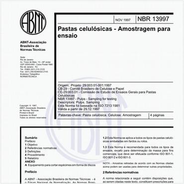 NBR13997 de 11/1997