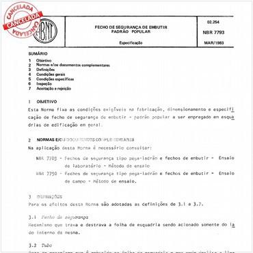 NBR7793 de 03/1983