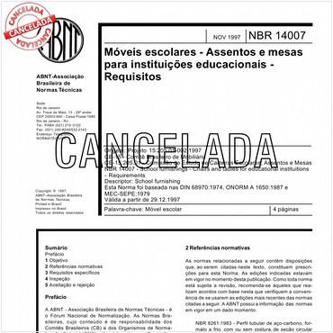 NBR14007 de 11/1997