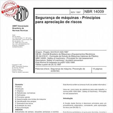 NBR14009 de 11/1997