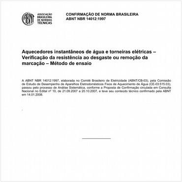 NBR14012 de 11/1997