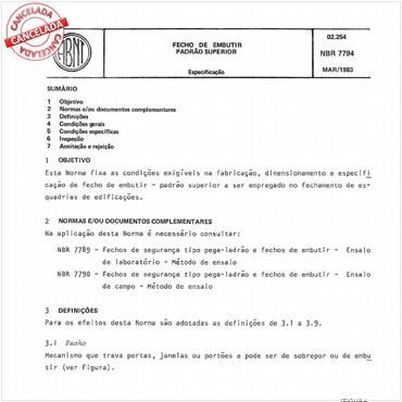 NBR7794 de 03/1983