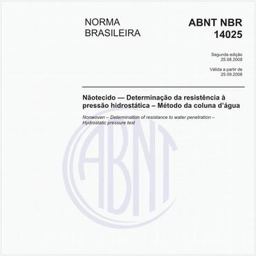 NBR14025 de 08/2008