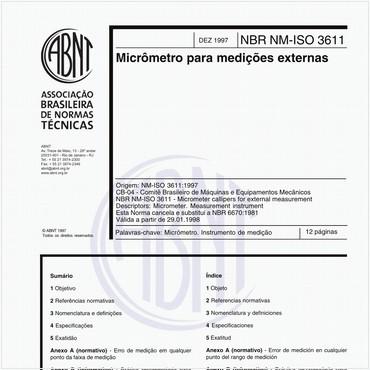 NBRNM-ISO3611 de 12/1997