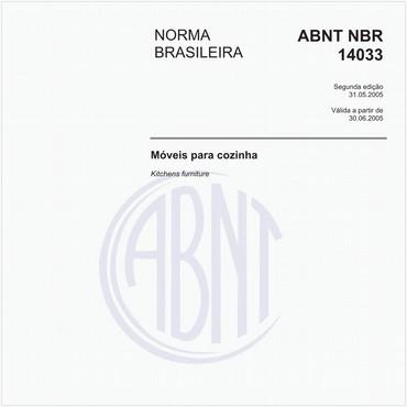 NBR14033 de 05/2005