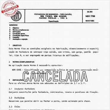 NBR7798 de 03/1983