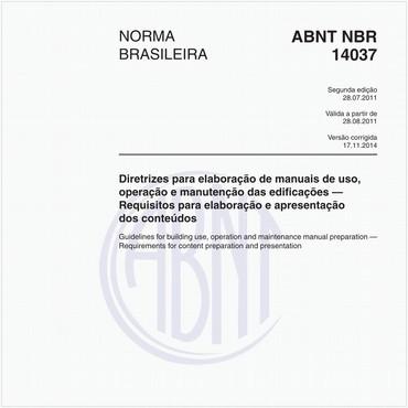 NBR14037 de 07/2011