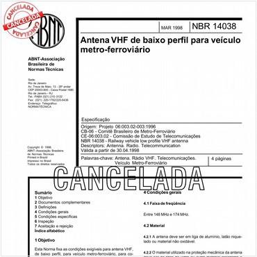 NBR14038 de 03/1998