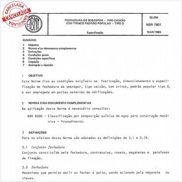 NBR7801 de 03/1983