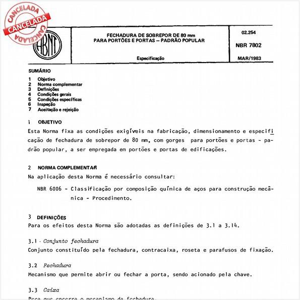 NBR7802 de 09/2012