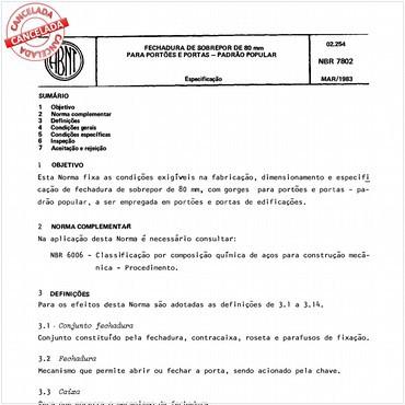 NBR7802 de 03/1983
