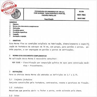 NBR7803 de 03/1983