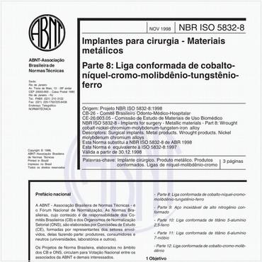 NBRISO5832-8 de 11/1998