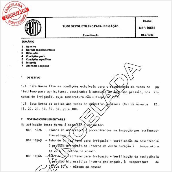 NBR10564 de 11/2003