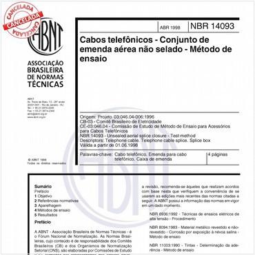 NBR14093 de 04/1998