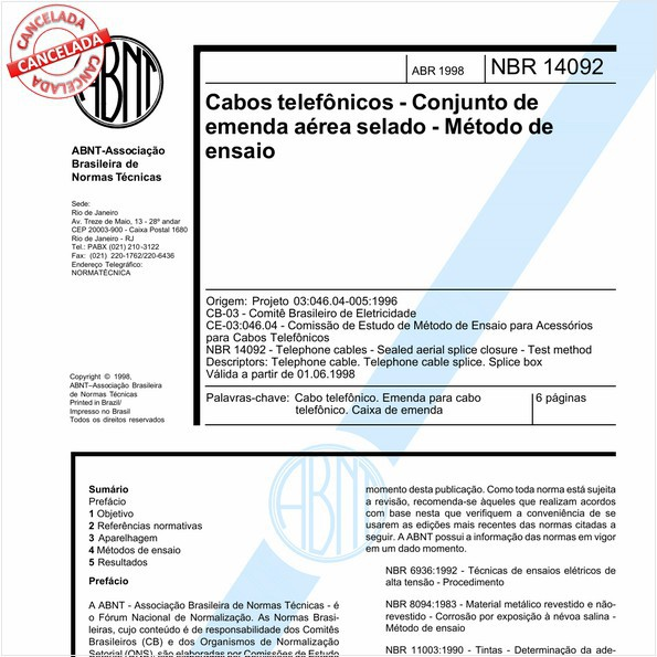 NBR14092 de 12/2015