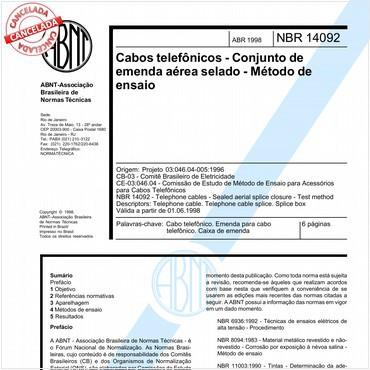 NBR14092 de 04/1998