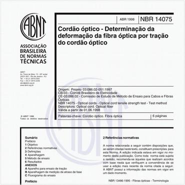 NBR14075 de 04/1998