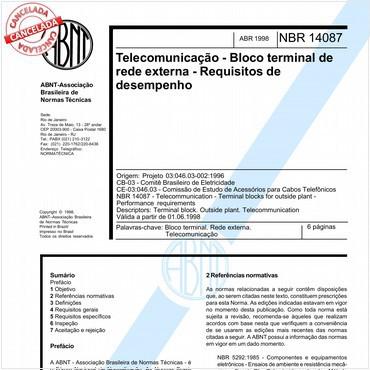 NBR14087 de 04/1998