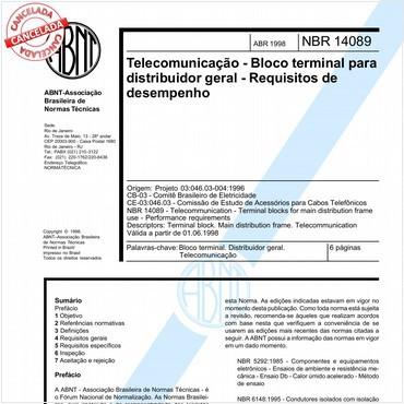 NBR14089 de 04/1998
