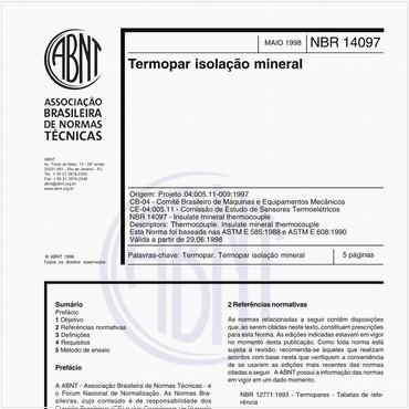 NBR14097 de 05/1998