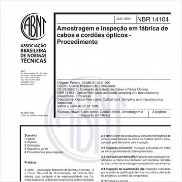 NBR14104 de 06/1998